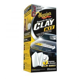 Meguiar's G1016EU Smooth Surface Clay Kit, 473ml+2*80g Lackreinigungsset   auto-und-teile.de