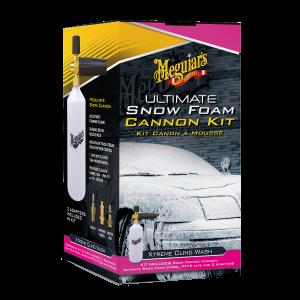 Meguiar's Ultimate Snow Foam Cannon Kit | Set aus Schaumdüse, Adapter für Hochdruckreiniger & Ultimate Snow Foam Autoshampoo G194000EU